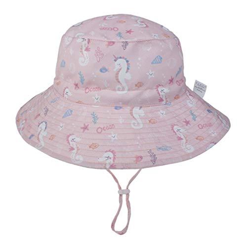 YAOXI Verano De Las Muchachas De Flor De Algodón Sombrero De Sol Grandes Sombreros De ala Ancha Playa para Niños del Sombrero del Capo De Sun,H,M