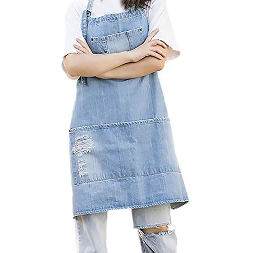 Maril Minimalist Apron Home Apron Cafe Work Wear Workwear Repair Cotton Denim Apron With Adjustable Strap fine