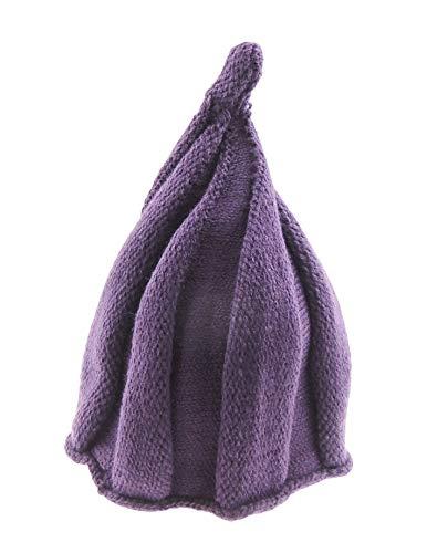 Glamour Girlz Bonnet d'hiver super mignon en tricot épais torsadé pour filles et garçons 12-24 mois (aubergine)