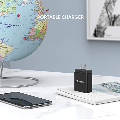 UGREEN Quick Charge 3.0 Wall Charger 18W USB Wall Charger Adapter QC 3.0 Fast Charger USB Plug Compatible for Samsung Galaxy S10/S9/S8/Note10/Note9/Note8, LG G6/V30/V20, HTC 10, iPhone, iPad and More