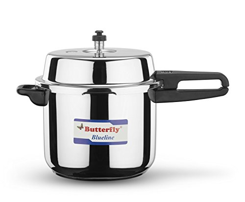 Butterfly BL-10L Blue Line Stainless Steel Pressure Cooker, 10-Liter