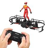 Emoshayoga RC Stunt Parapente Drone Motor sin escobillas Drone Niños Educación al Aire Libre Fiesta Familiar Vacaciones(Red)
