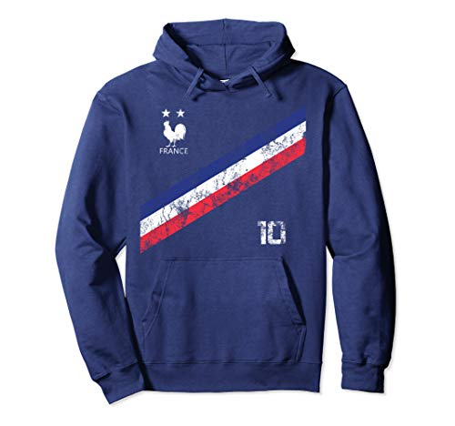 France Soccer Jersey Style Team Men Women Kids Flag French Pullover Hoodie