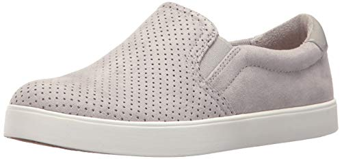 Dr. Scholl's Shoes Women's Madison Sneaker, Grey Cloud Microfiber Perforated, 8 M US