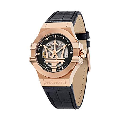 Reloj para Hombre, Colección Potenza, de Acero, PVD Oro Rosa, Cuero - R8821108039