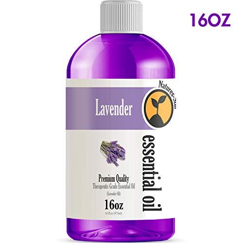 16oz - Bulk Size Lavender Essential Oil (16 Ounce Bottle) - Therapeutic Grade Essential Oil - 16 Fl Oz