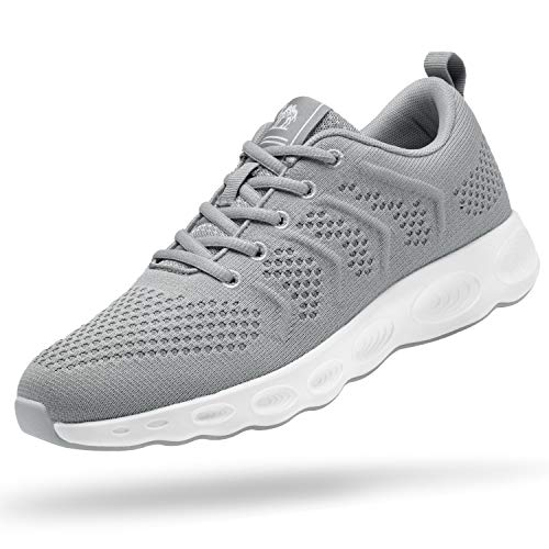 CAMEL CROWN Men's Running Shoes Tennis Shoes Fashion Sneaker Lightweight Athletic Casual Sport Workout Walking Shoes Grey
