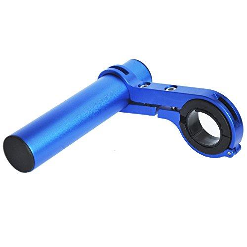 upanbike Fahrrad Lenker Extender Aluminiumlegierung Halterung Erweiterung für Fahrrad Tacho Mount Scheinwerfer Taschenlampe Lampe Halter, blau