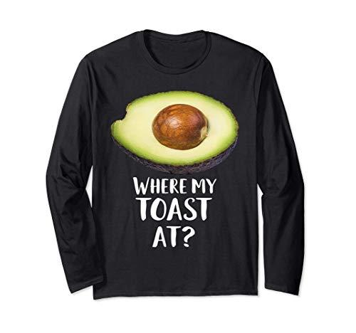 美味しいアボカドパン コスチューム 大人のベジタリアン ギャグ ギフト 長袖Tシャツ
