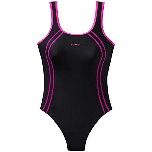 etirel D-Badeanzug Bonnie, schwarz/pink dark,44 [Misc.]