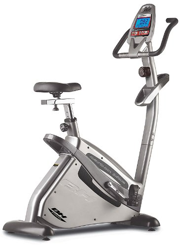 BH Fitness Carbon Bike H8702R heimtrainer, fitnessbike, 14 kilo schwunggewicht, manuelles magnetbremssystem, informativer lcd-monitor, robuster aufbau, integrierte transporträder