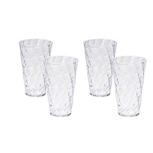 Omada Design 4 vasos para bebidas 50 cl, transparente y de color,...