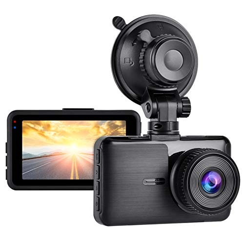 """Aigoss Dash Cam FHD 1080P Video Telecamera per Auto, Grandangolare 170° con 3"""" Schermo LCD, Supporto G-Sensor, Registrazione in Loop, Monitor di Parcheggio"""