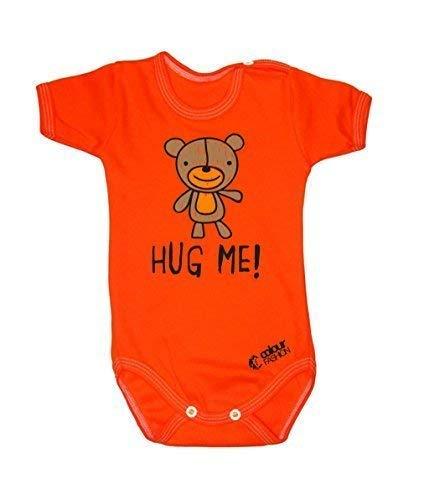Colour Fashion Doux Ours en Peluche Hug Me Garçon Fille Unisexe Combinaison Manche Courte 100% Cotton Petit Bébé - 24 Mois 0039 - Orange, Tiny Baby, 52 cm