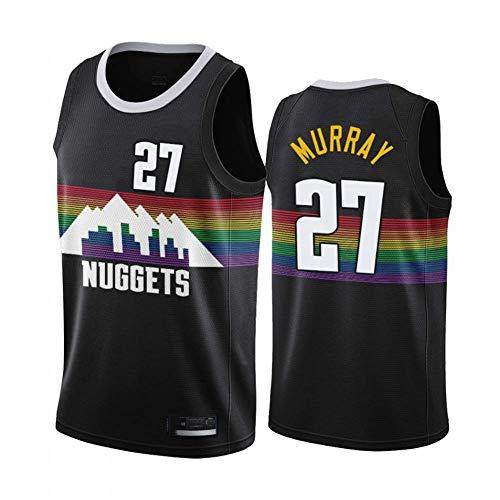 SHR-GCHAO Jersey Maschile - NBA Denver Nuggets # 27 Jamal Murray Jersey, Maglia di Allenamento da Pallacanestro Traspirante E di Sudore, T-Shirt Senza Maniche,S(165~170cm/50~65KG)