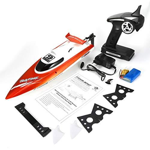 Feilun FT009 2.4G 4CH水冷RCレーシングボート30km / h超高速電動RCボートおもちゃリモートコントロールボート