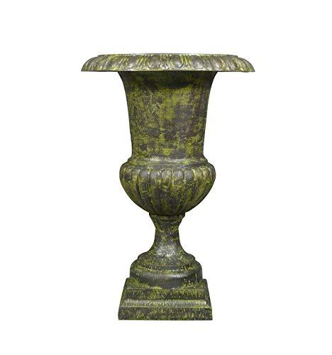 HTdeco - Jardin - Vasques et vases - Medici Vase aus grünem Gusseisen - H: 96 cm