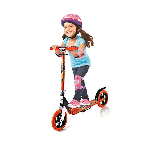 Dpower キックボード 子供用 3輪 ブレーキ キッズ キックスケーター キックスクーター 子供スクーター 正規品 キックスクーター スノースクーター 折りたたみ式 高さ調節可能 スキーもできる児童車 三輪/二輪 (LWX-2811 オレンジ)