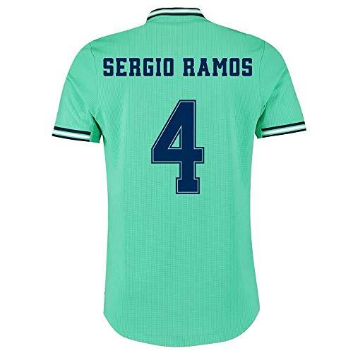 Camiseta de fútbol for Hombre Sergio Ramos # 4 -Fans Sport Soccer T-Shirts Jerseys de Manga Corta (Color : Green, Size : M)