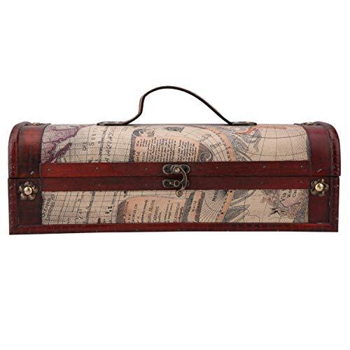 Soporte de caja de botella de champán de vino tinto Caja de regalo de madera vintage Estuche de transporte Accesorio de vino para regalo de cumpleaños de boda