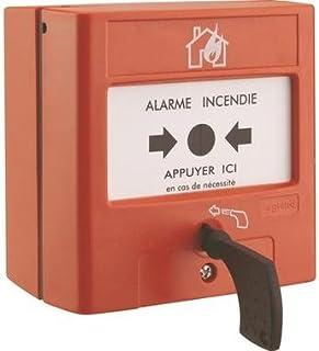 Pulsador de membrana para equipo de alarma de incendios (Manual Legrand