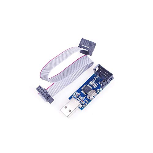 Angeek USB ISP - Programador USBASP con cable para Atmel AVR ATMega 51 ATTiny