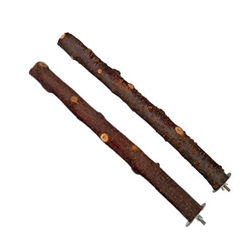 I型 鳥 止まり木 パーチ オウム 枝 りんごの木 自然木 簡単にケージに設置 2本セット