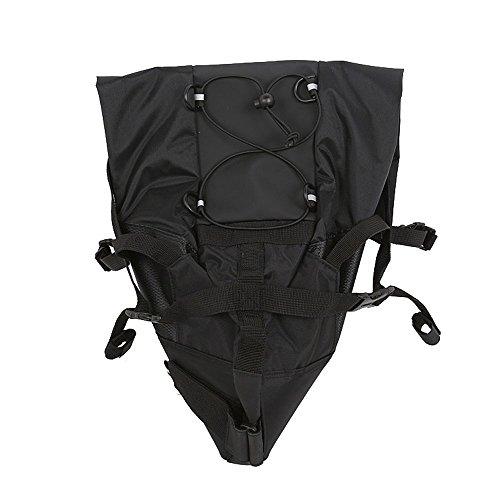 Giant - Bolsa para sillín de bicicleta, grande, impermeable, color negro y negro