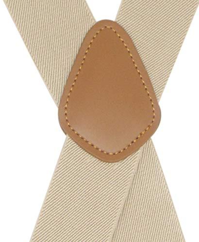 Mens Suspender 4 Swivel Strong Hooks Adjustable Braces Elastic Comfortable X Style Heavy Duty Strap