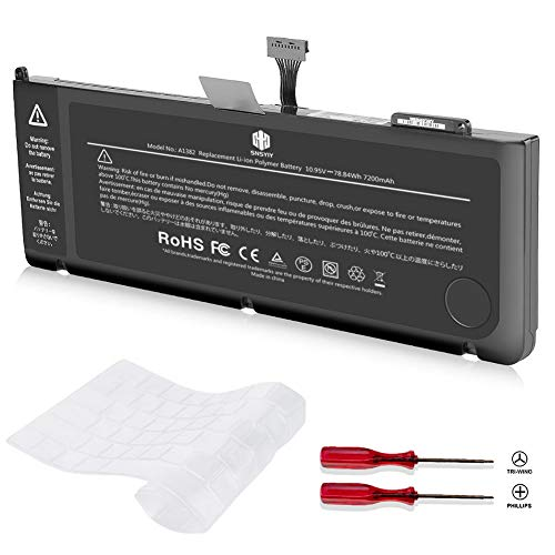 A1382 Battery for MacBook Pro 15 inch A1286 Early 2011 Late 2011 Mid 2012 New Replacement Laptop Battery (7200mAh 10.95V/78.84Wh 25 Months Warranty)