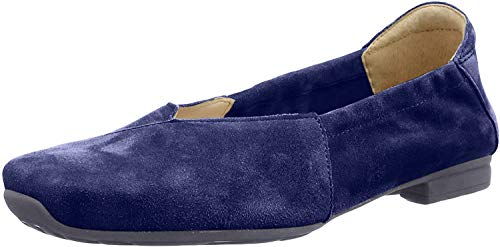 Think! Damen Gaudi_484175 Riemchenballerinas, Blau (Indigo 89), 36 EU