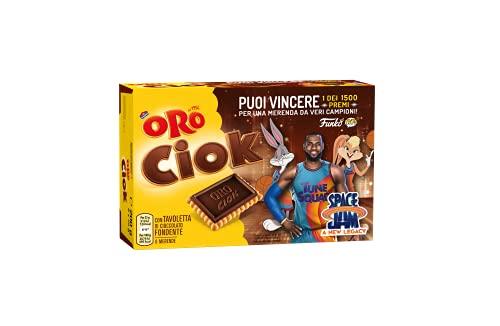 Oro Ciok Edizione Limitata Space Jam 2, Biscotti con Tavoletta di Cioccolato Fondente -200g