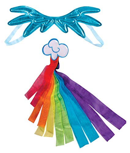 Rainbow Dash Costume Kit for Kids, My Little Pony Character 2 Piece Dress-up Accessory Set, Children's Size