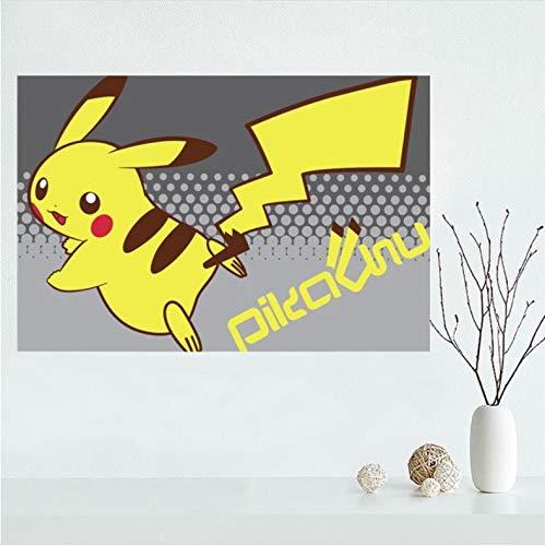 mohanshop Nizza Personalizzato Pokemon Pikachu Tela Poster Stampa Pittura Arte Parete Tela Poster Panno Stampa Fai da Te Tessuto Poster A343 (40X60Cm) Senza Cornice