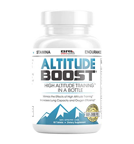 Altitude Boost. High Altitude Training in a Bottle to Increase VO2 Max, Endurance, Oxygen with Alpha Lipoic Acid, Iron and Vitamin B 12 (60 Tablets)