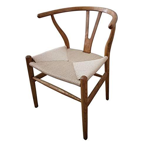 LAZ Wishbone Chair - Legno Dining Chair - Stile del Mid - Rattan e Legno Accento bracciolo Sedia