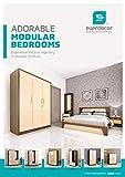Vizit Elegant Bedroom Set, 6 * 5 feet Cot, 3 Door Wardrobe, Dressing Table & 1 Cot Box