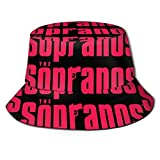 SDFRG Sombrero de Pescador de Moda para Hombres y Mujeres El Logotipo de Sopranos Gorra de Visera Sombrero de Visera para Summer Beach