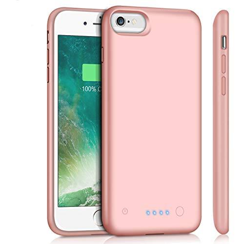 Battery Case for iPhone 6Plus/6s Plus/7Plus /8Plus, for iPhone 6s Plus/6 Plus/7 Plus /8 Plus Rechargeable Charger Case(5.5 inch)-Rose Gold
