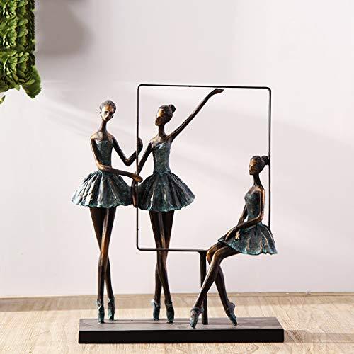 Ornamento de Escritorio La decoración del hogar, moderna simple de la estatua, Resina escultura abstracta Decoración, Decoración Ballet Metal Girl ilustraciones, joyería Interior Oficina regal