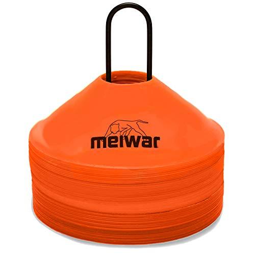 meiwar Markierungshütchen 20er Set mit Halter und Tasche Orange