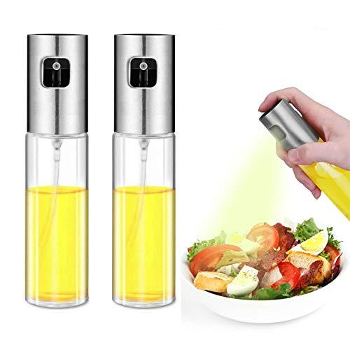 KBstore 2 Stück Essig Ölsprüher Pumpe Öl-Zerstäuber Essig-Zerstäuber Glas Flaschen - Olivenöl Spray Spender Küche Werkzeug für BBQ/Salat/Brot Backen/Grill - 100 ml #1