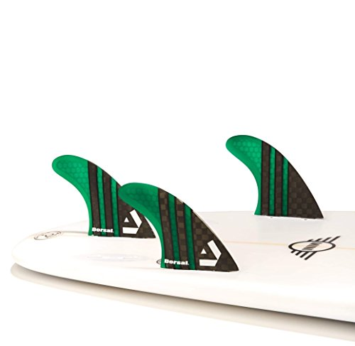 DORSAL Carbon Core Thruster Surfboard Fins by DORSAL The FASTER....LIGHTER....TIGHTER Surf Fin The CS5 Series Ultra Light Carbon Surf fins are not only aggressive but have just the right amount of rigidity and slight flex to bring that surfboard aliv...