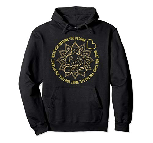 Law Of Attraction Spiritual Buddha Pullover Hoodie