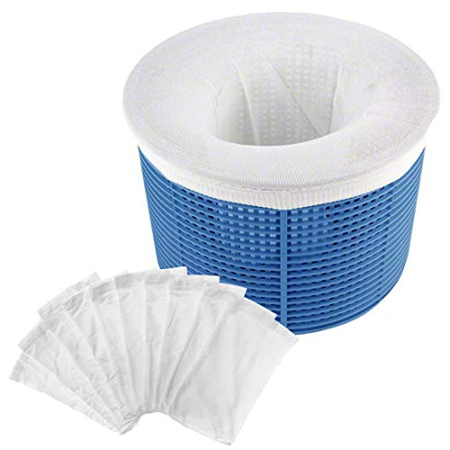 O-Kinee Schwimmbad Skimmer Socken, Pool Filter Saver Socken 10 STÜCK für Filter Skimmer Korb, Entfernt Schlacken, Blätter Öl, Abschaum, Pollen, Insekten, Mehr