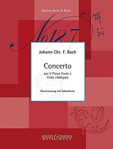 Concerto: per il Piano Forte e Viola obbligata. Viola und Orchester. Klavierauszug mit Solostimme.