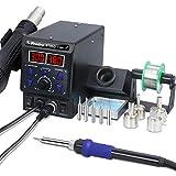 8786D I 2 en 1 Preciva estación de soldadura y soldador de aire caliente, estación de soldador con °F/°C, aire frío/caliente, corrección de temperatura digital y función de suspensión (EUR)