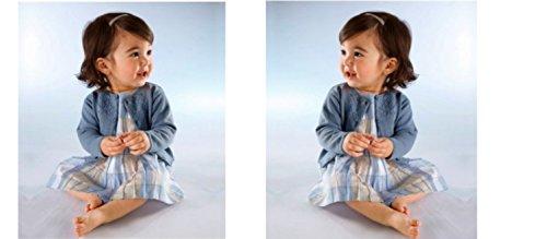 KLITZEKLEIN Kleid, Mädchenkleid, blau, tolle Qualität, ohne Jacke, Gr. 74