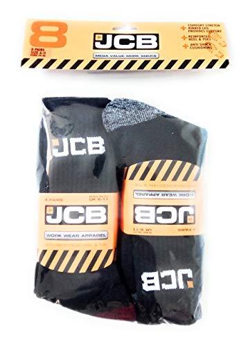 JCB Socken für Arbeitskleidung, 8Paar im Pack, Größe 39-46 (EU)