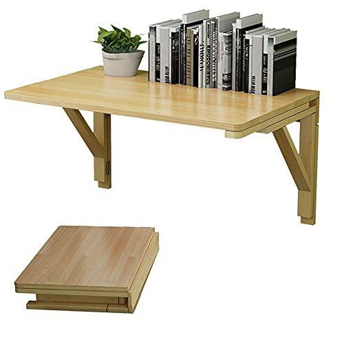 ZCYY Mesa de Pared, Mesa de Pared Plegable, Escritorio de computadora con Soporte Doble, Mesa de Comedor de Cocina Flotante, Mesa Plegable con Capacidad de Carga de 50 kg